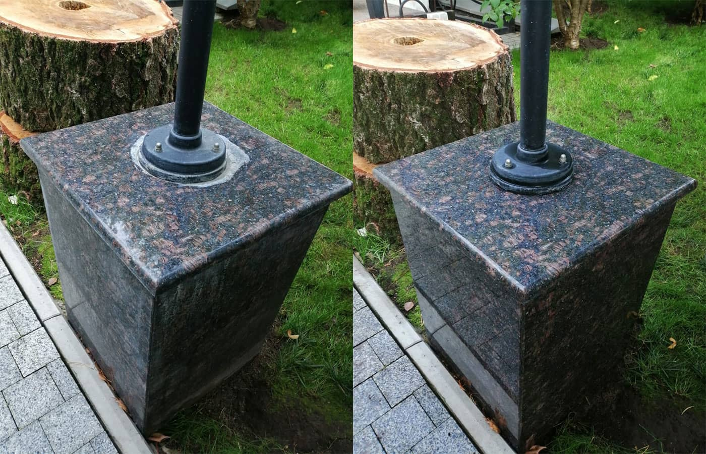 Очистка от цементных высолов
